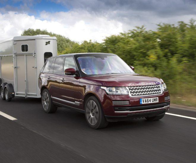 Range Rover horse trailer