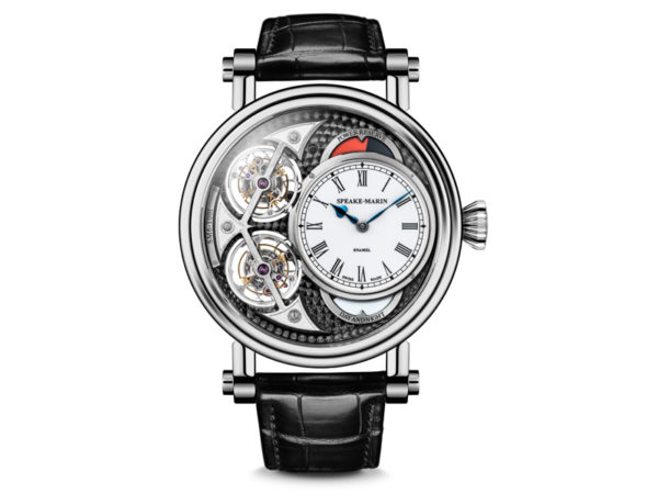 The Black Magister Double Tourbillon by Peter Speake-Marin, equipped with a SM Calibre SM6.