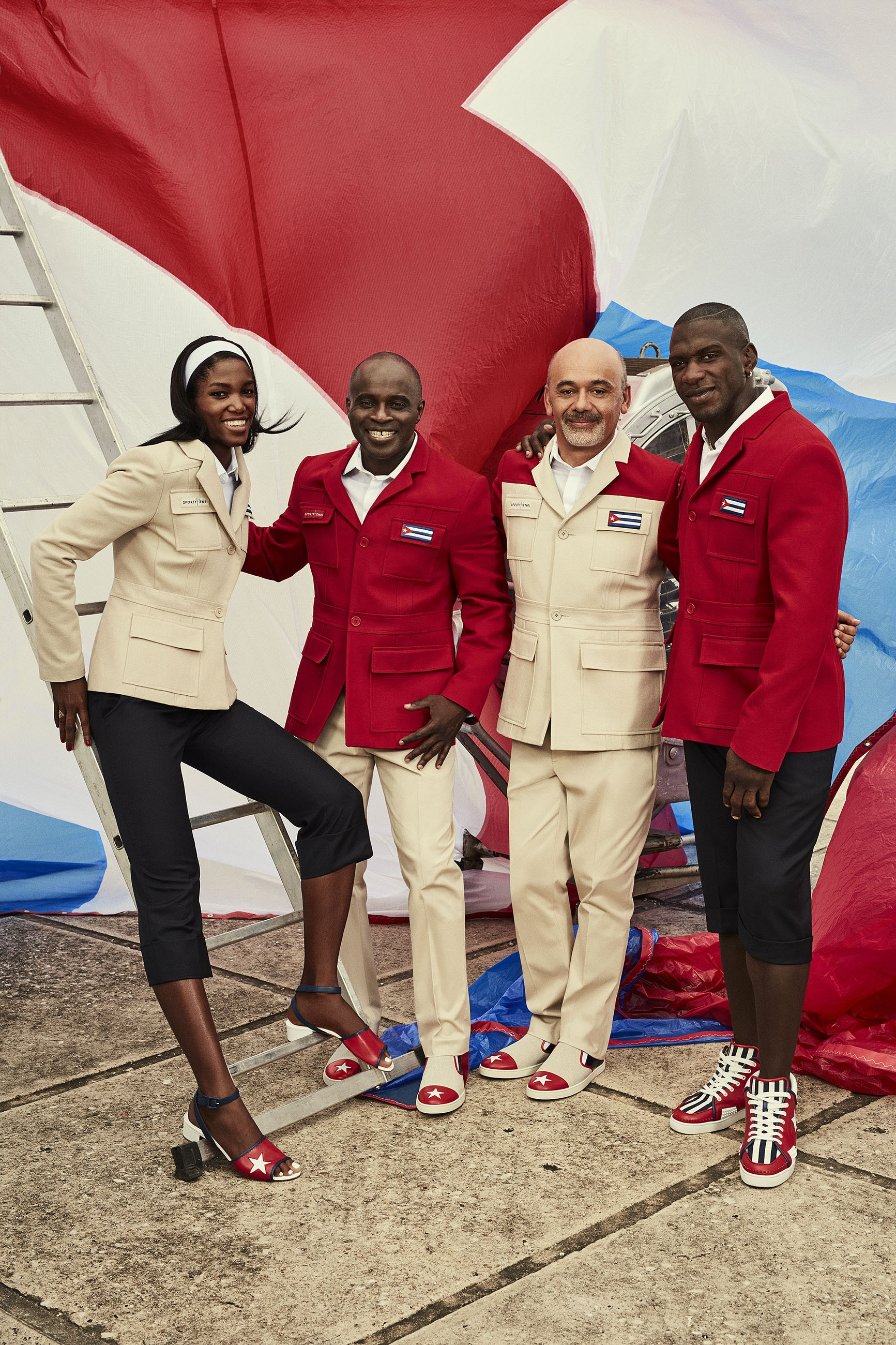Christian Louboutin X SportyHenri.com Official Supplier of Cuban National delegation celebratory outfit with flags for Rio Olympic Games