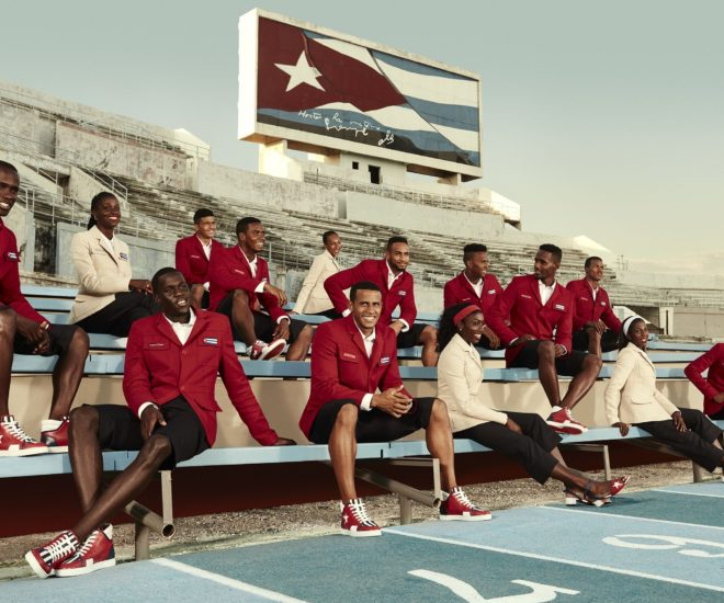 Christian Louboutin X SportyHenri.com Official Supplier of Cuban National delegation celebratory outfit for Rio Olympic Games