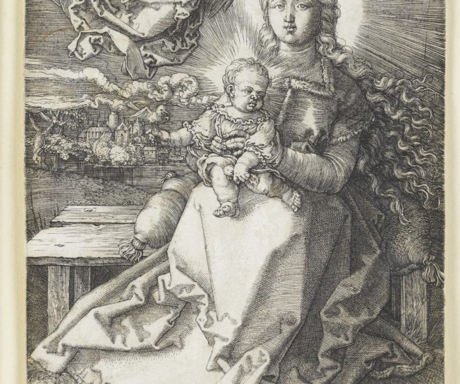 Maria crowned by an angel dated 1520