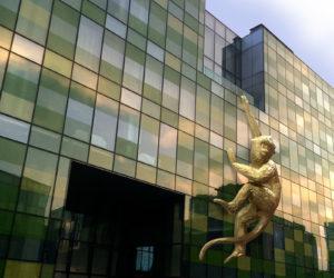 Opposite House Installs Golden Monkey Sculpture