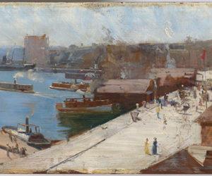 Arthur Streeton, 'Circular Quay,' 1892 at 'Australia's Impressionists' © National Gallery of Australia, Canberra