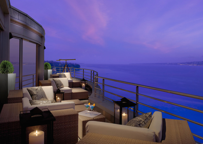 The Royal Penthouse Suite at Hotel President Wilson. Image courtesy of Hotel President Wilson