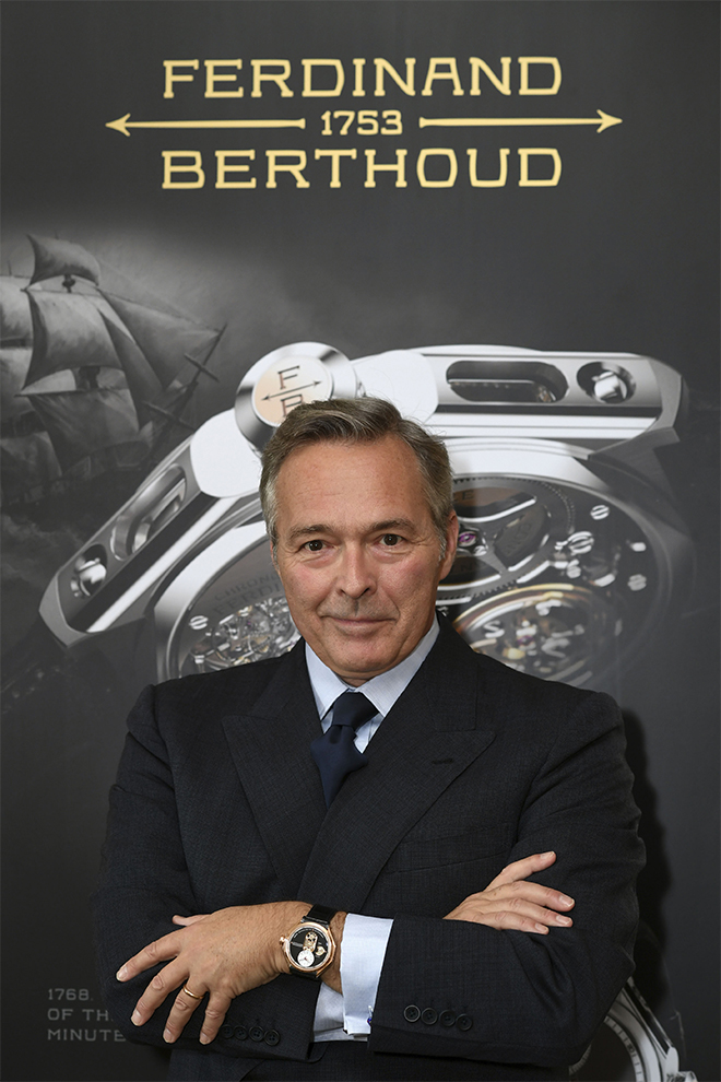 Karl-Friedrich Scheufele, Co-President of the Chopard Group and President of la Chronométrie Ferdinand Berthoud.