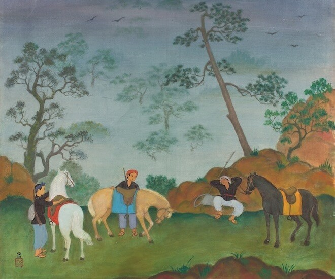 Mai Trung Thu, 'Hunters', 1978. Image courtesy Christie's Images Ltd., 2017