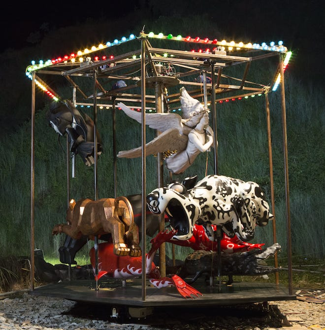Ronald Ventura, 'Carousel', 2016, fibreglass, resin, polyurethane paint, metal, mechanical and electrical device