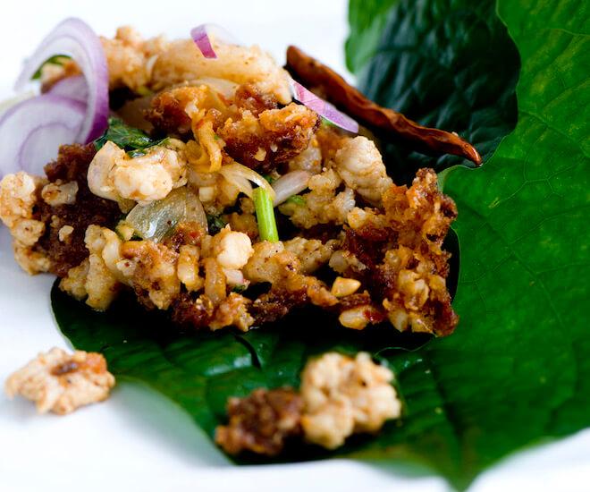 Spicy pork at Nahm, Bangkok