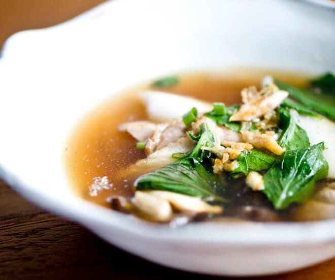 Clear soup of roast duck at Nahm, Bangkok