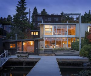 """Portage Bay House is a true, bonafide """"lake house"""" designed by Heliotrope Architects inspired by Seattle's maritime heritage."""