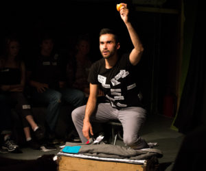 """""""Labels"""" by Worklight Theatre at the Singapore Fringe Festival 2017 (Photo credit: Anna Bruce via AFP)"""