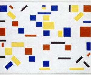 """Bart van der Leck, """"'Composition No.8', 1917 (Photo credit: Gemeentemuseum Den Haag via AFP)"""