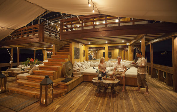 Prana offers enormous living areas and has formal dining for 20 both inside and outdoors