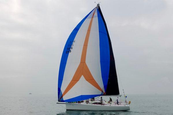 Wong sailing her Archambault A35, Andiamo