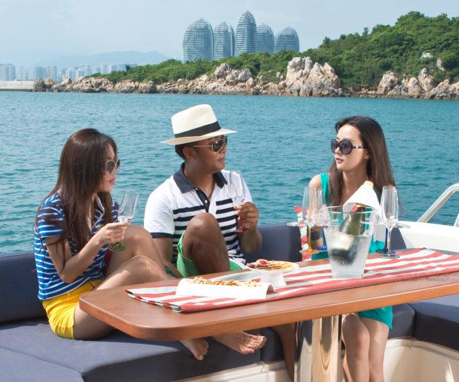 Yachting off Hainan Island, China