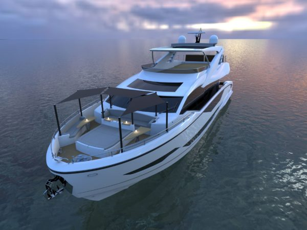 Project 8X represents Sunseeker's new generation of larger models, with a much greater beam and volume