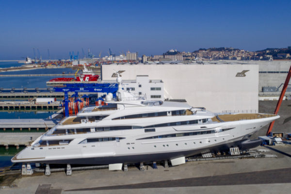 The 259ft M/Y 135 is CRN's second-longest yacht, behind the 80m Chopi Chopi launched in 2013