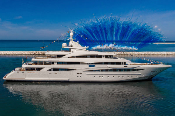 The spectacular launch ceremony was held in Ancona for over 1,000 people, including many who worked to design and build her