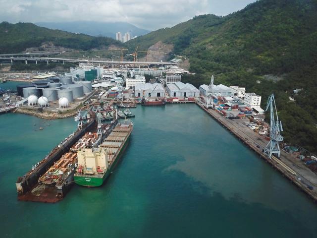 Yiu Lian Dockyards in Tsing Yi; Photo: HKCYIA