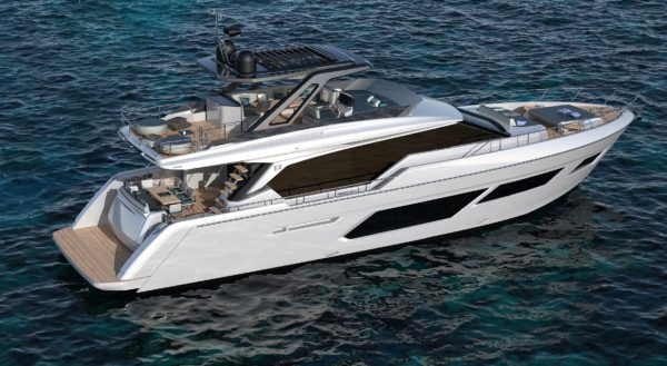 The 720 is the second Ferretti Yachts model to sport an exterior by architect Filippo Salvetti, following the 670 that debuted at Cannes last September