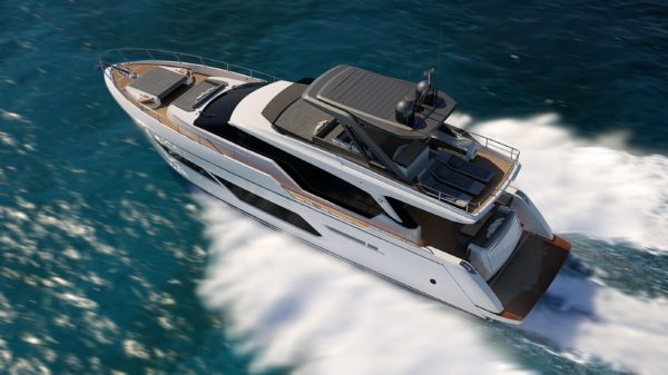 The world premiere of the Ferretti Yachts 720 will be held at the Cannes Yachting Festival from September 10-15