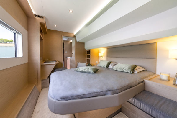 The owner's suite is a standout feature on the MY40