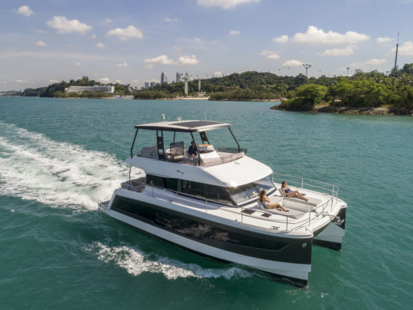 The Asia premiere of Fountaine Pajot's new MY40 was held in Singapore