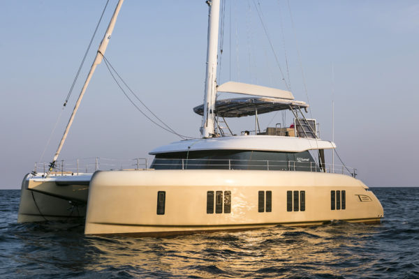 the Sunreef 50 is the third model in a new range of sailing catamarans