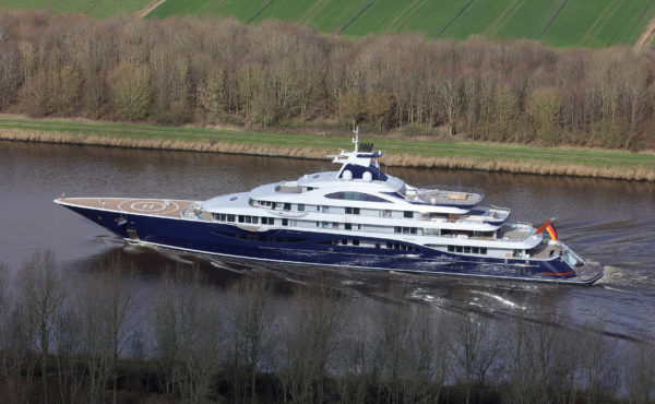 The 111m Tis by Winch Design takes her interior inspiration from iconic hotels and residences around the world; Photo: Carl Groll