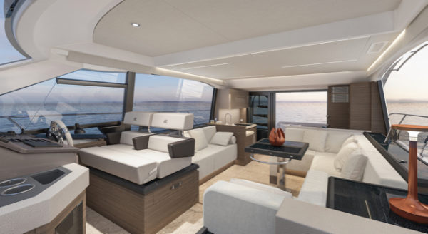 Andréani Design handled the interior of the Beneteau Monte Carlo 52