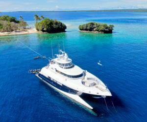 The 115ft charter powercat Spirit in Papua New Guinea