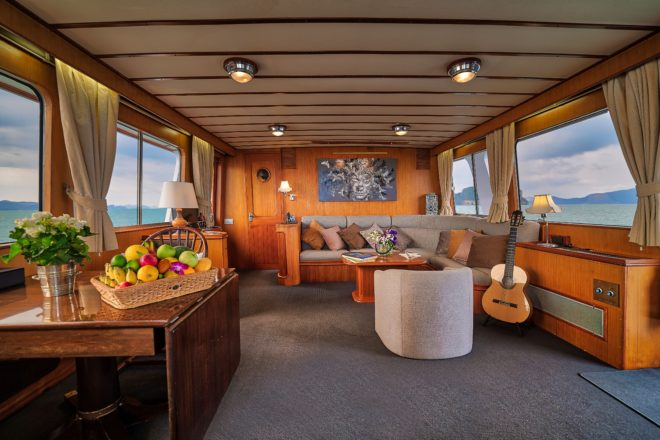 L'Orientale offers a beautiful three-cabin charter option for southern Thailand