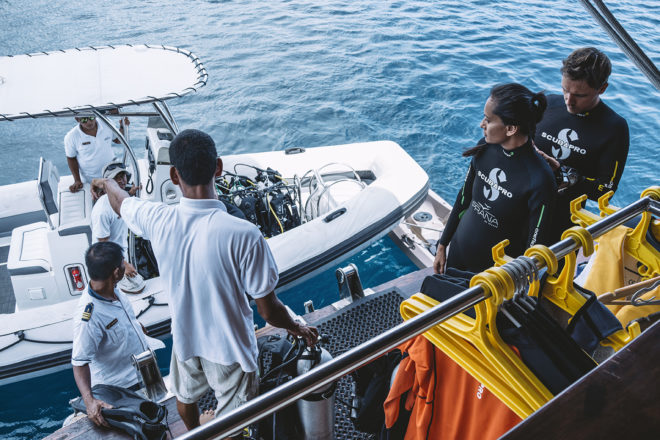 Prana has a comprehensive watersports centre with full dive facilities