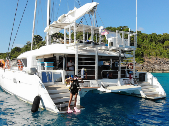 The Lagoon 620 Primetime is designed for diving, including a specially built aft deck