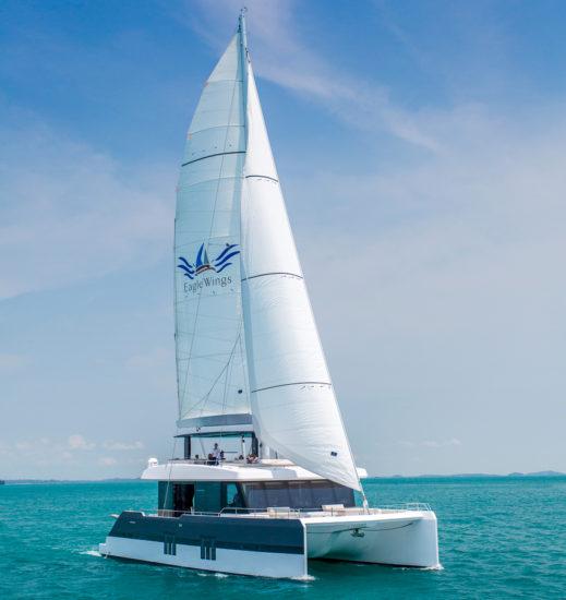 Eagle Wings is a Sunreef Supreme 68 sailing catamaran