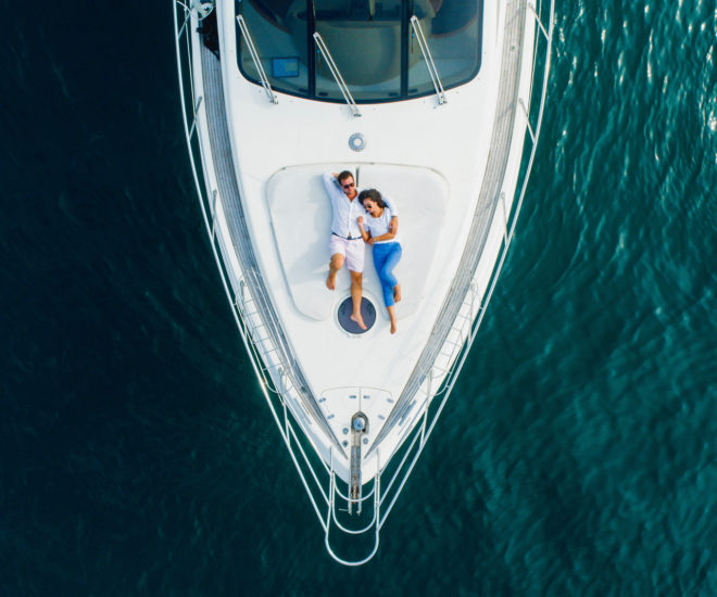 Simpson Marine has a large fleet of charter yachts including an Azimut 55