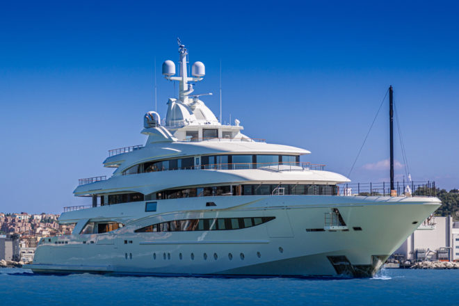 CRN's 79m, five-deck M/Y 135, which was delivered to her owner in August, is among the larger yachts on display at this year's Monaco Yacht Show
