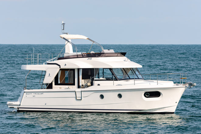 Beneteau's Swift Trawler 41 is available in Fly (above) and Sedan versions