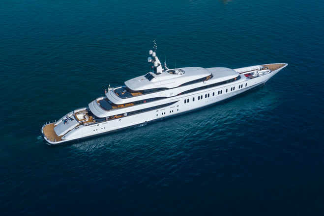 The 108m IJE, Benetti's third 100m-plus gigayacht, is Australian-owned