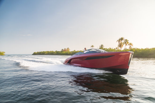 Princess's 50-knot R35 was showcased at Cannes in 2018