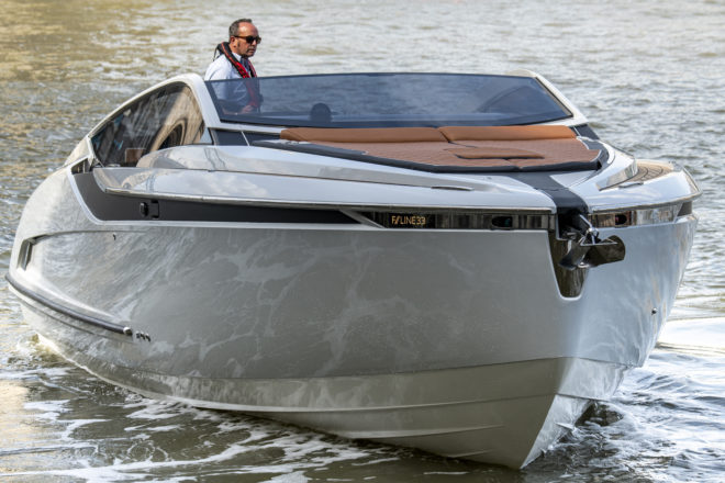 Fairline's 45-knot F//Line 33 was unveiled at Cannes in September