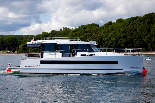 The Northman 1200, pictured in Gdynia, Poland, also exhibited at this year's Cannes Yachting Festival