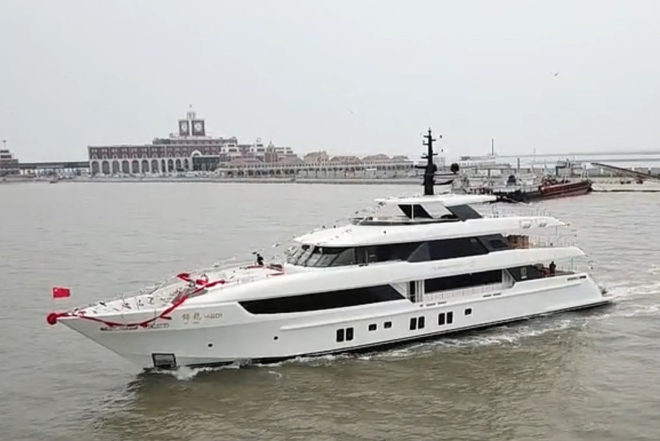The Chinese-built superyacht was designed by Dutch studio Mulder