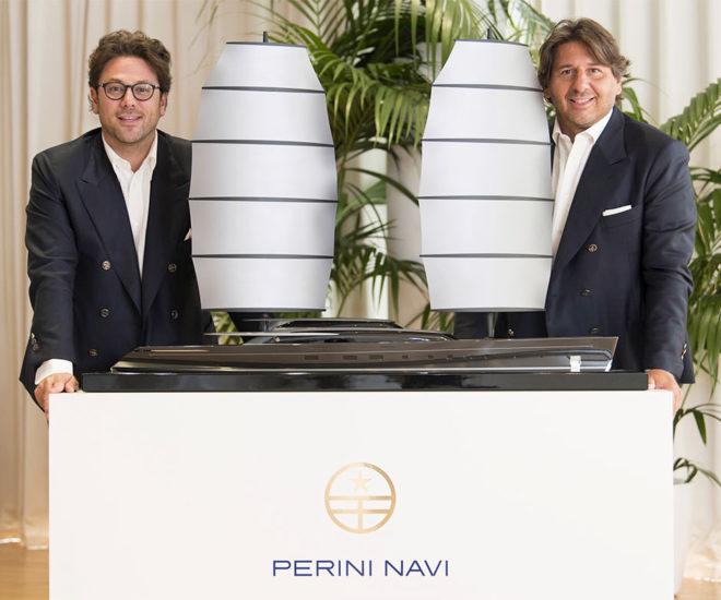 Edoardo Tabacchi, Perini Navi's majority shareholder, and Lamberto Tacoli, Chairman and CEO