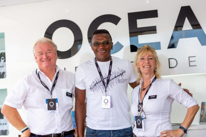 FIFA World Cup winner Marcel Desailly was among the stars at the Monaco Yacht Show; Photo: Ocean Independence