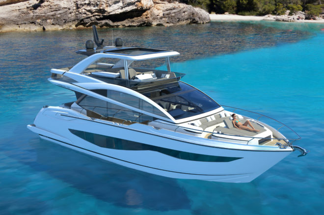 The Pearl 62 will feature a specially designed sunbed foredeck