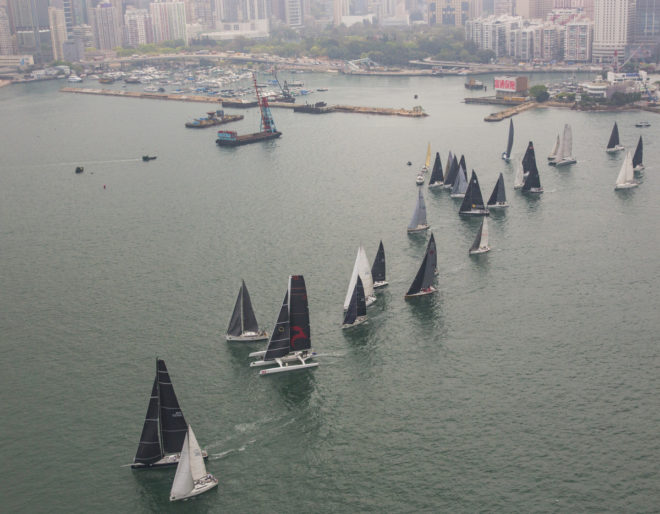 Start of the 2018 Rolex China Sea Race