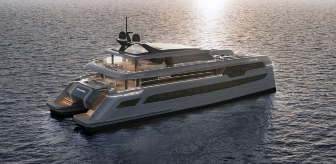 The 49M Sunreef Power is also due to be ready in late 2021