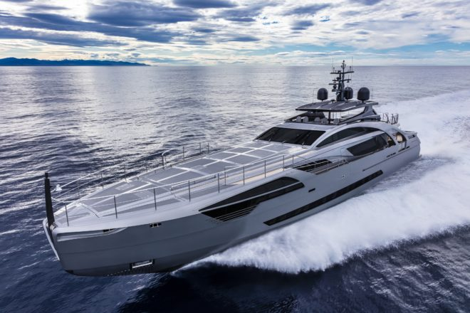 Chorusline, the first Pershing 140, has been in Hong Kong since late 2019