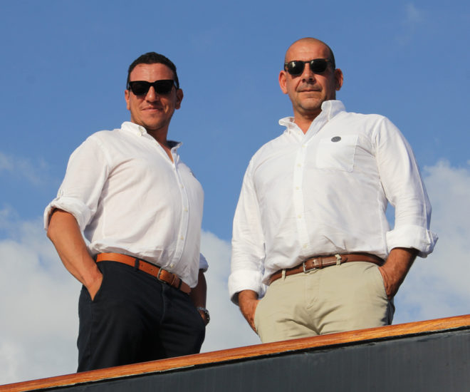 Yacht Sourcing founders Boum Senous and Xavier Fabre